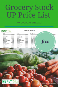 A guide to grocery prices in the stores. No need to use any coupons!