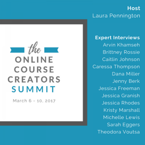Online Course Creators Summit. Tips on Creating your own online course.