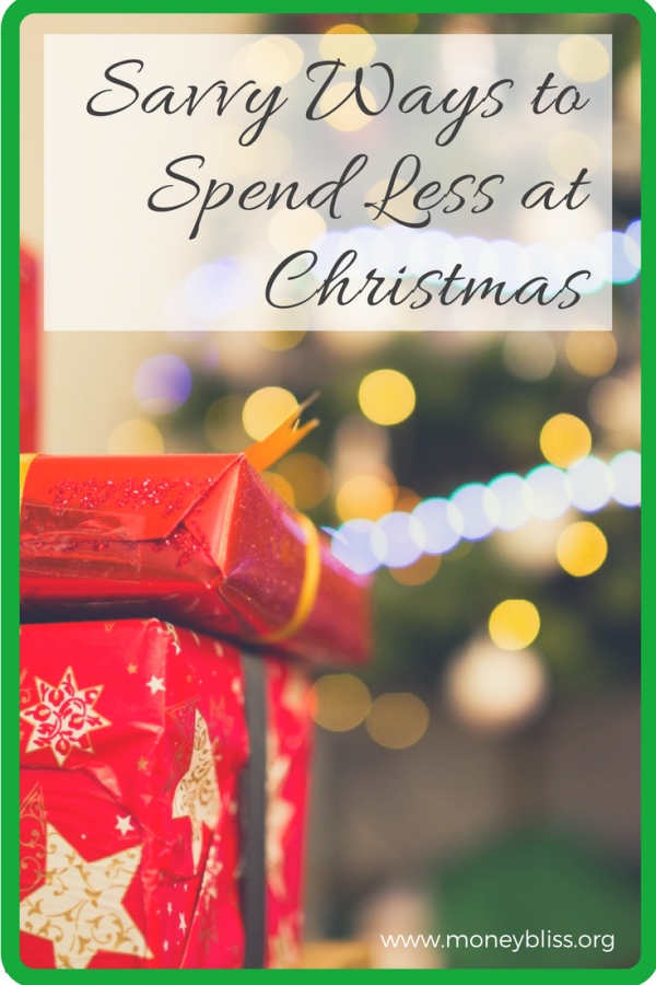 Savvy Ways to Spend Less at Christmas. Shopping on a budget. Save money. Christmas on a budget.