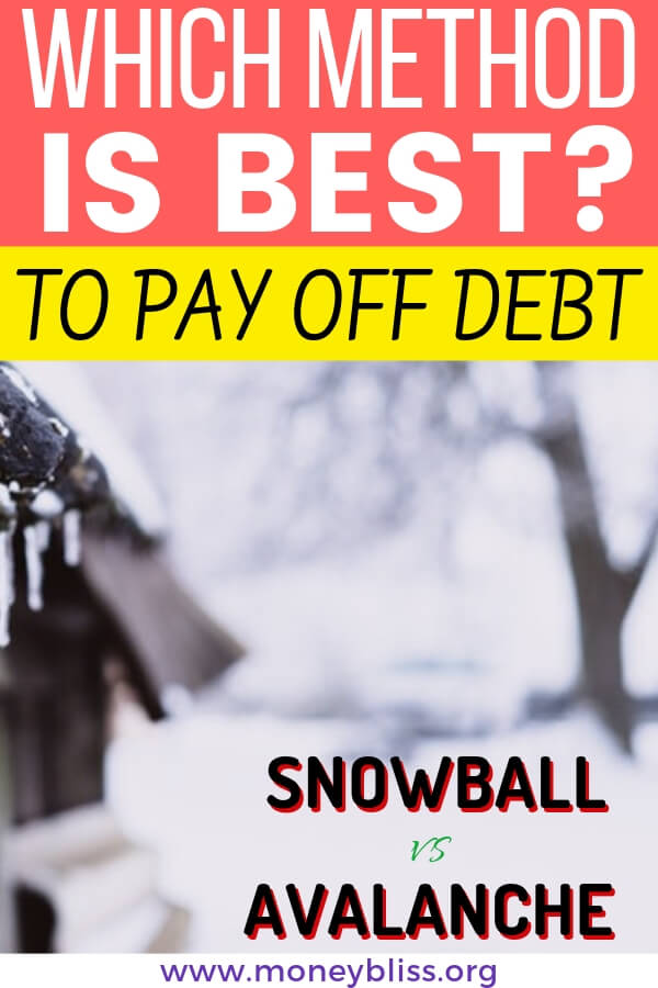 How to pay off debt without stress or worry. Learn to get out of debt with the debt snowball or debt avalanche. Put student loans or credit card debt behind you and move forward to financial freedom.