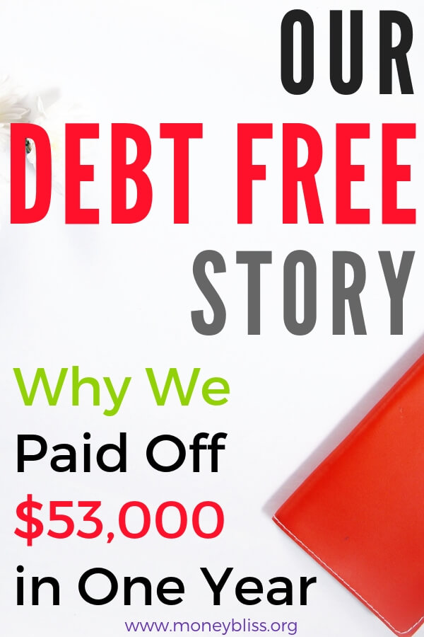 Understand why someone wants to pay off debt. Learn from our successful debt free story. Overcoming money obstacles to find financial freedom is a challenge, but worth the effort to paying off debt. #debt #debtfree #journey #learn #casestudy #finanicalfreedom #moneybliss