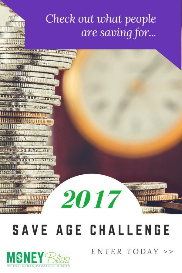 Saving money is a common New Year's Resolution. Here is the Save Age Challenge to help you save money in 2017. Simple, easy. Get money tips once signed up. Reach your money goals. Save money monthly.