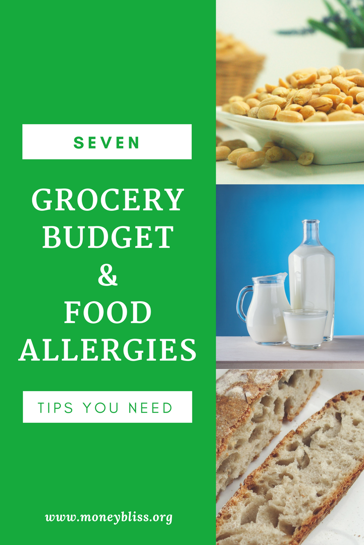 7 Tips to Stay on Budget with Food Allergies. Grocery budget with allergies. Food allergy recipes.
