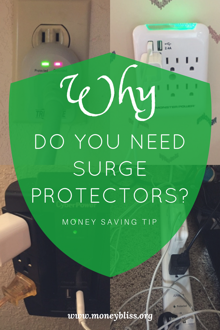 Why do you need surge protectors. Money Saving tips. Money hack. Protect electronics.