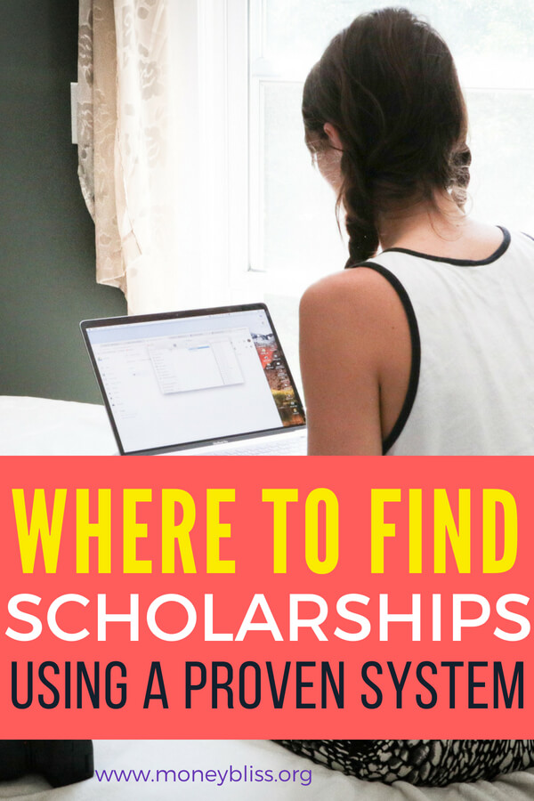 Finding scholarships for college shouldn't be a challenge. It is easy when you have a proven system. This is a must read for all high school students and moms. Find scholarships for juniors or seniors. Get the same tips that let one person get a full ride tuition. This is a great alternative to student loans. #scholarships #college #highschool #kids #debtfree #studentloans