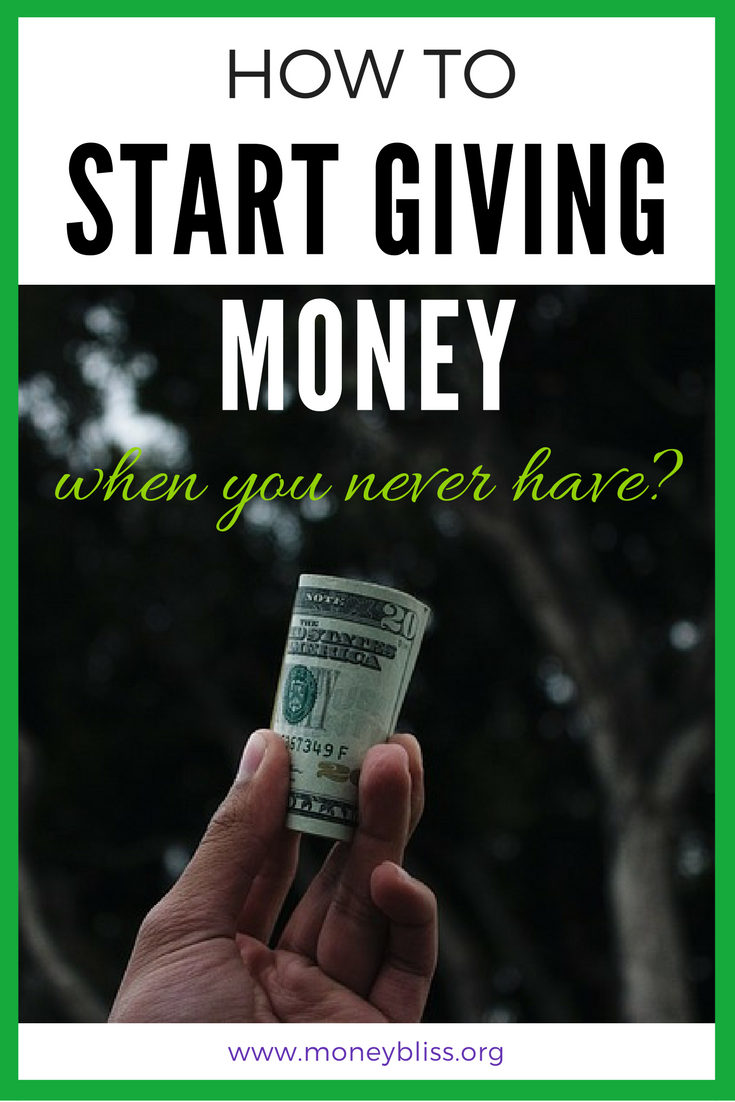 Regardless of your financial situation. Plenty of money in the bank or living paycheck to paycheck, you can always start giving money. Learn How to Start Giving Money when you are broke. Why give money to charity? How to start giving money when you never have. Give back. Financial Freedom.