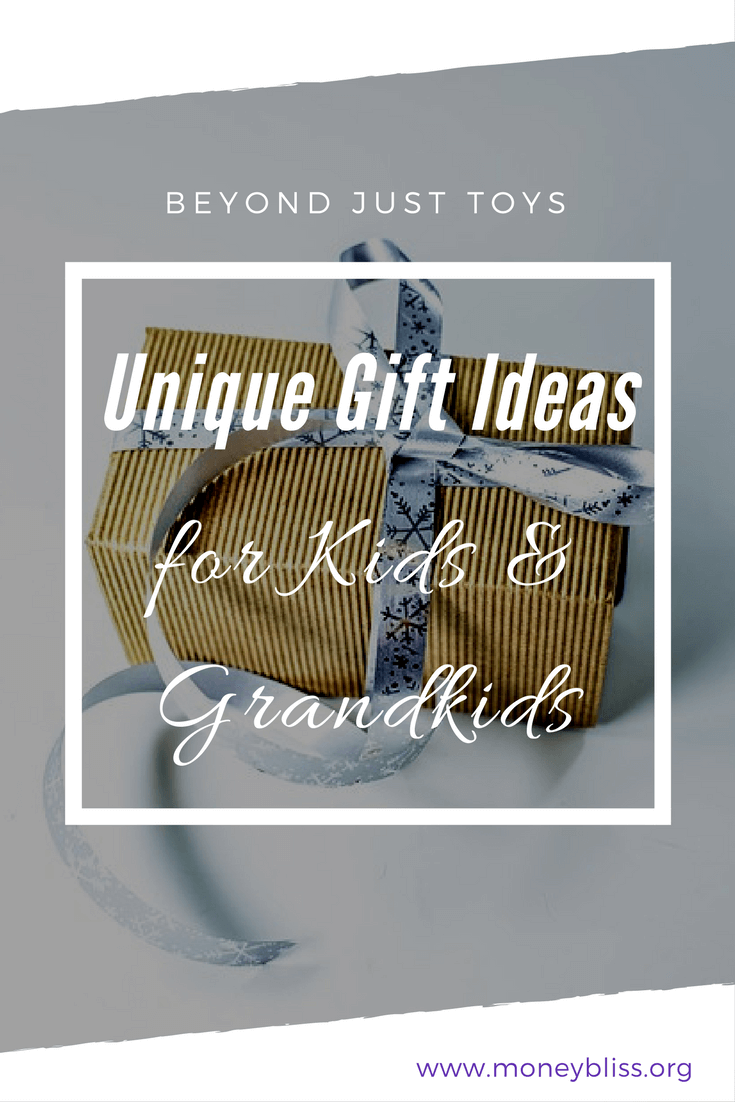 Find a unique gift for grandkids. Gift Giving that is more than toys. Gift ideas for grandkids. Present ideas from grandparents. #minimialism #toys #gift