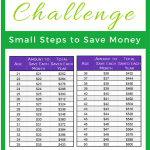 Saving money is a common New Year's Resolution. Here is the Save Age Challenge to help you save money. Simple, easy. Get money tips once signed up. Reach your money goals. Save money monthly.