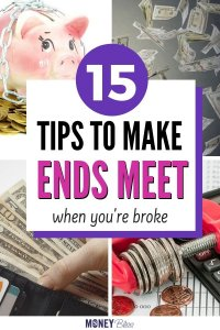 Learn how to make ends meet when you are broke. Get tips and tricks to use to improve your money situation. These ideas are great for families or singles or couples. Get your budget to work for you. Money Bliss