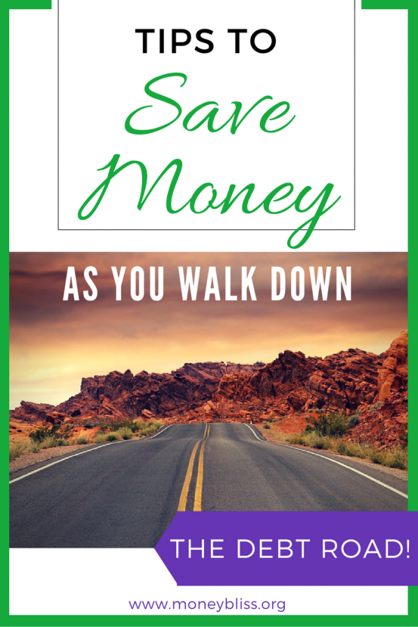 Tips to save money while in debt. How to save money while paying off debt. How to pay off debt and save money at the same time. Get out of debt while saving. How to pay down debt and save money at the same time.