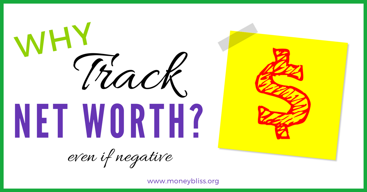 what is the purpose to track net worth even if negative money bliss