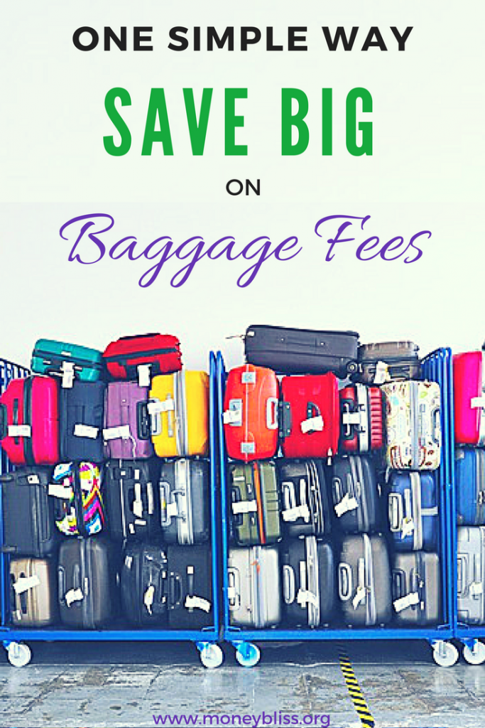 How to avoid baggage fees. Learn how to save on baggage fees. Save money airline baggage fees. How to get around frontier baggage fees. Simple hacks to save money when traveling.