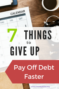 Get out of debt quickly by cutting these things out. Can you guess your yearly potential savings??Learn how you can pay off debt even with a low income. Pay off debt fast in order to reach financial freedom. Here are the things to give up to pay off debt faster. #payoffdebt #debtfree #financialfreedom #getoutofdebt