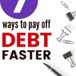 Need to pay off debt quickly? Then this post will show you how. Dave Ramsey may have some tricks, but you need to have tips and ideas to get out of debt faster even when you're broke. Say goodbye to credit cards and student loans when you learn the best way to pay off debt.