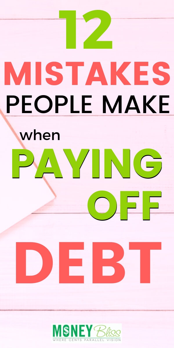 Paying off debt may sound simple enough. But, don't fall victim to one of these common debt payoff mistakes. Get printables, worksheets, and motivation tips on how not to pay off debt.