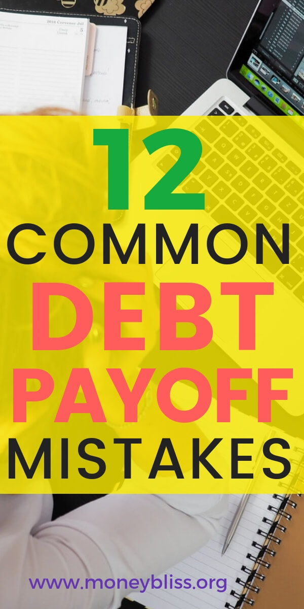 When paying off student loans and credit cards, you must avoid these common debt payoff mistakes. Get ideas on how to be successful in paying off debt. Get motivation with this post.