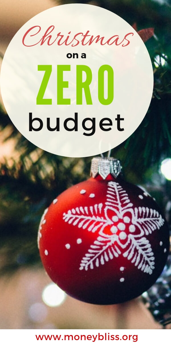 Learn how to spend zero at Christmas in a materialistic society. Find tips to have Christmas on zero budget. Giving. Creative ideas for Christmas presents. Spend very little money on Christmas. Christmas Budget or no? Simple living at its finest. #christmas #budget #moneybliss