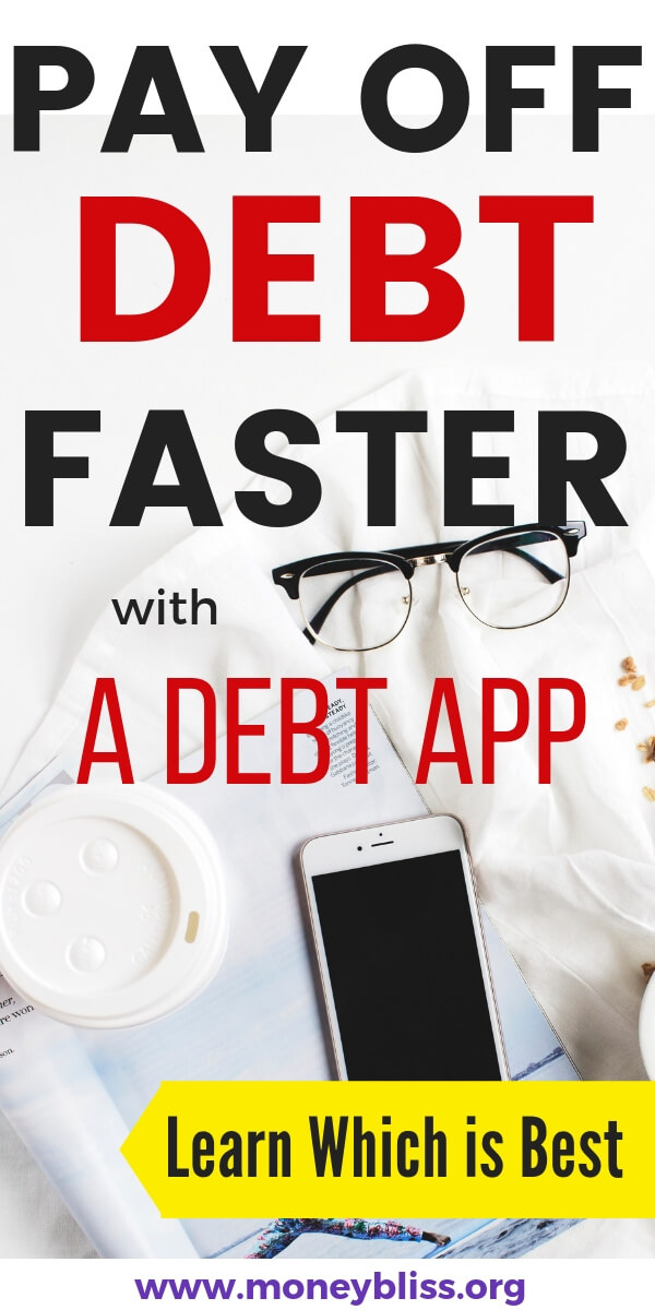 Debt apps will help to pay off debt. Regardless of the type of debt - credit cards, student loans, payday loans, these smartphone apps will help. Take your free printable and excel worksheet to get out of debt faster using phones. #debt #app #moneybliss