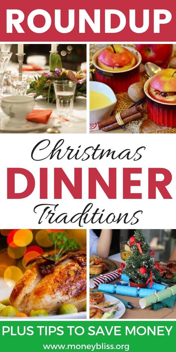 What is your Christmas Dinner Tradition? Get simple ideas for holiday meals on a budget. True life stories. #christmas #dinner #moneybliss