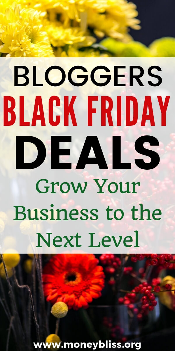 Black Friday is a great time to level up your business and save money. This is for all business owners and bloggers. Get notified and grow your business to the next level. #bloggers #moneybliss