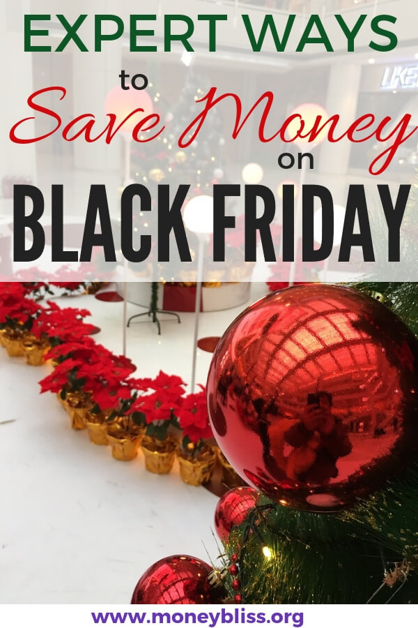 Get prepared for Black Friday shopping with these tips. The expert ideas will have you scoring the deals and saving money on Christmas. Stay on budget and buy gifts with these money saving tips. #blackfriday #moneybliss