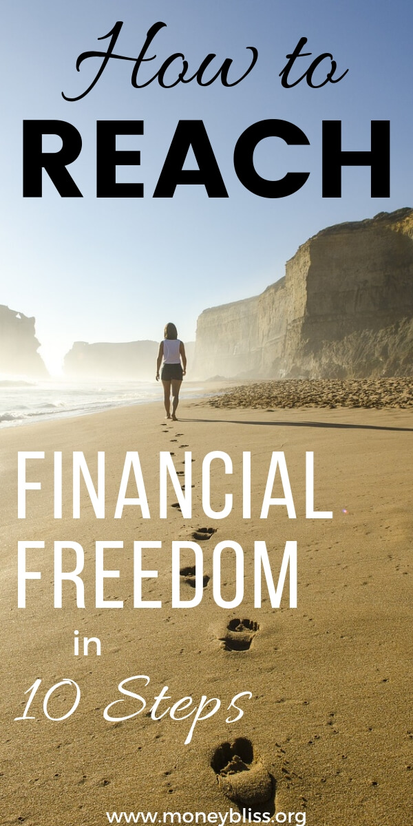 How to reach financial freedom in 10 simple steps. These ideas will change your life and your families. Switch from Dave Ramsey and the baby steps to understand your vision board for life. Improve your finances now. #personalfinances #financialfreedom #fire #moneybliss