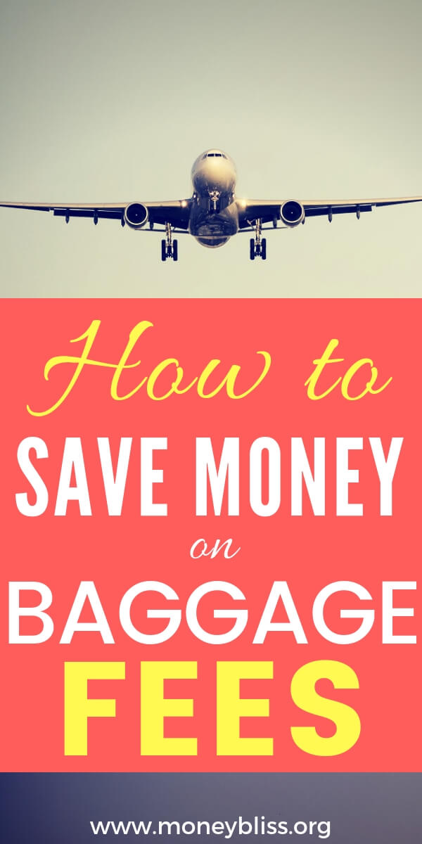 Packing luggage for travel is one key to saving money. With this money saving tip, you can save thousands on airline baggage fees. Be frugal. Not cheap. #travel #moneybliss