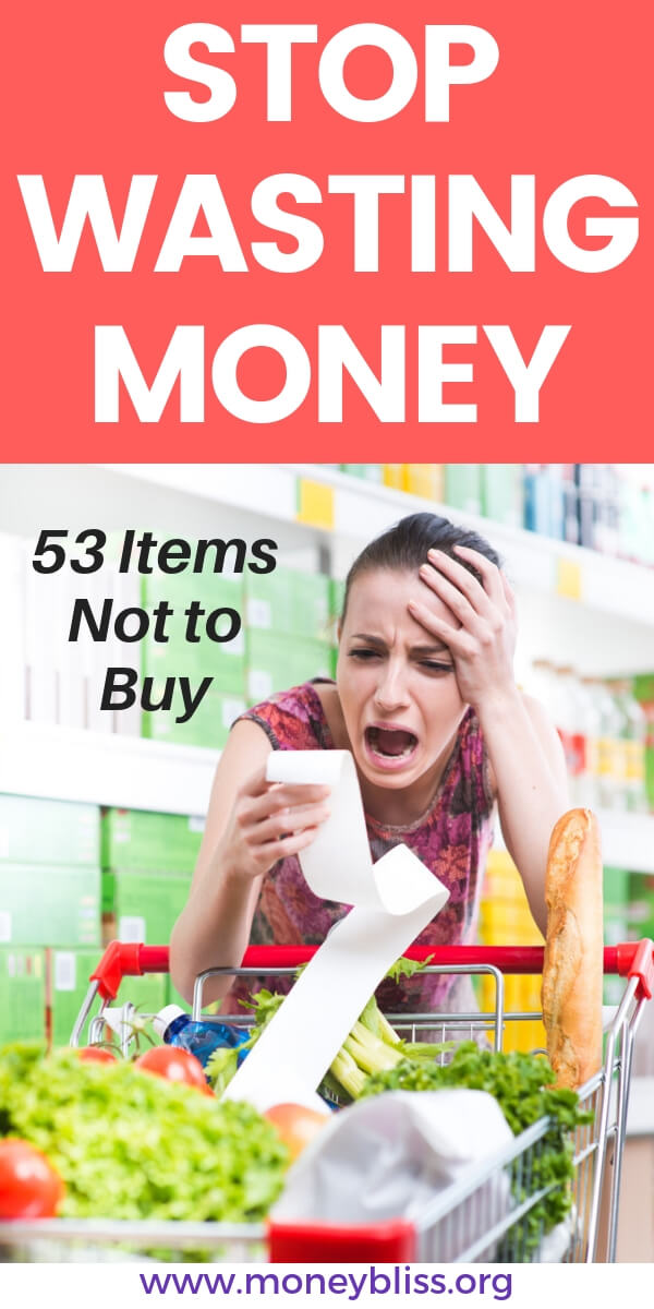 Learn how to grocery shop on a budget. Save money by not buying these items. These grocery money saving tips will save you thousands.