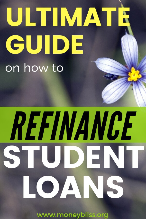 Get yourself out of debt fast. Refinancing student loan debt is a great way to save money on interest. Learn tips and tricks on refinancing student loans. #debt #student #moneybliss