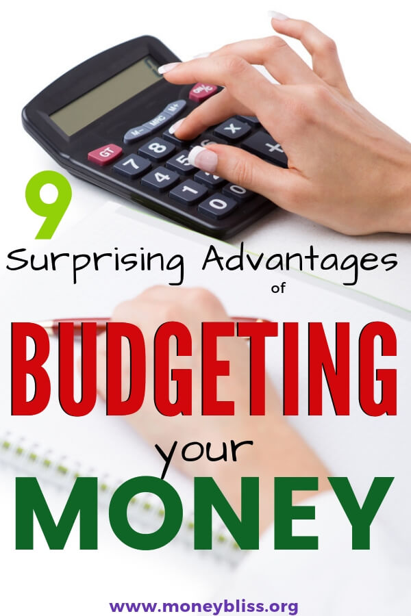 Learn the advantages of budgeting money. Then, creating a budget will be easy and simple. Full of tips to help your personal finance success. #budget #money #moneybliss