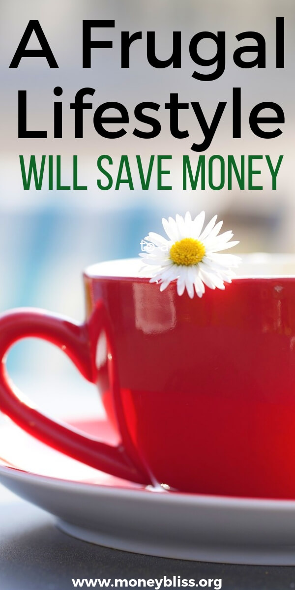 Interested in saving money, then embracing a frugal lifestyle will help you reach your financial goals. This guide is full of tips and ideas on becoming frugal and enjoying simple living. #frugal #lifestyle #moneybliss