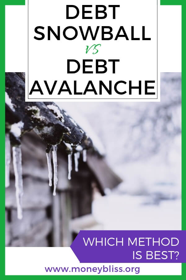 Why should you pay off debt? Debt snowball vs. debt avalanche vs debt stacking. What is best to pay off credit cards, student loans, and auto loans. Get out of debt. How to pay off debt fast. Compare options to payoff debt. #debt #payoffdebt #financialfreedom #debtfree #moneybliss