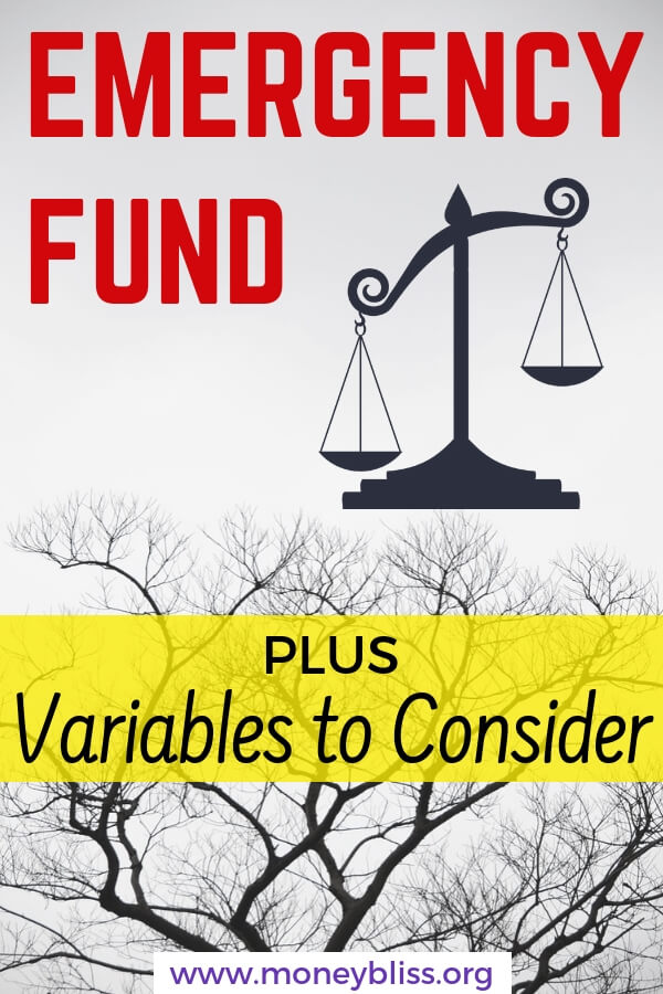 Find out the difference between an emergency fund and a 6 month expense fund. Learn how to build an emergency fund plus variables to consider. Improve your personal finance today. #savemoney #ideas #moneybliss