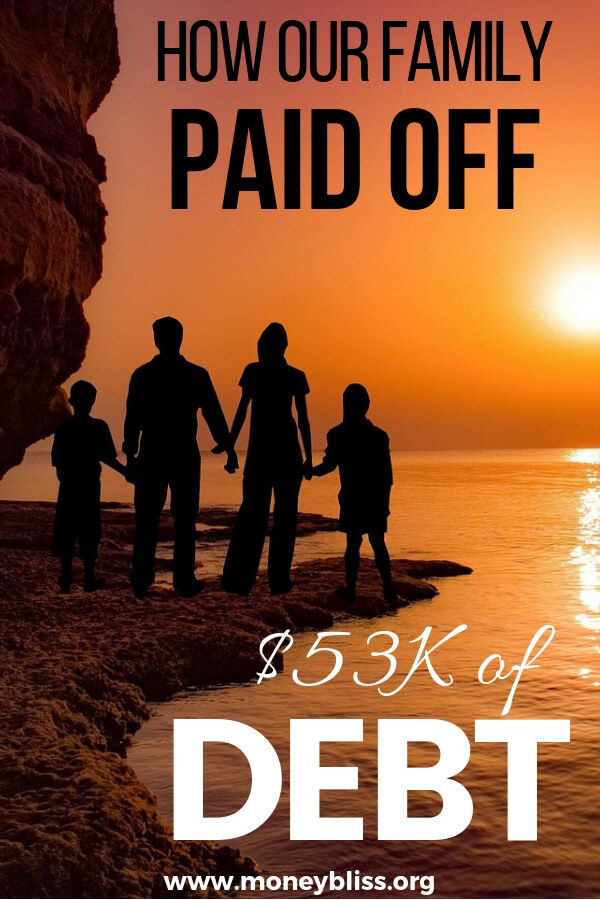 Learn how this family become one of the debt free stories. Find tips for motivation while paying off debt. That extra money will help you reach financial freedom faster. #debtfree #financialfreedom #moneybliss