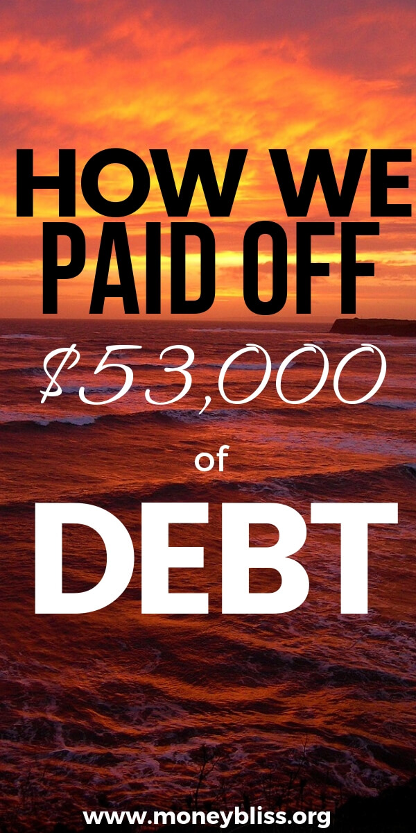 Learn how we paid off debt on one income and didn't use the Dave Ramsey method. True real life story from real people. Do you want extra money each month? Then learn how to pay off debt. #debtfree #finances #moneybliss