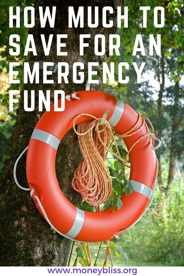 How much to save for emergency fund? Plus variables to consider. Basic guidelines on emergency fund vs. rainy day fund. Stop living paycheck to paycheck with this guide on emergency funds. #emergencyfunds #savemoney #moneybliss