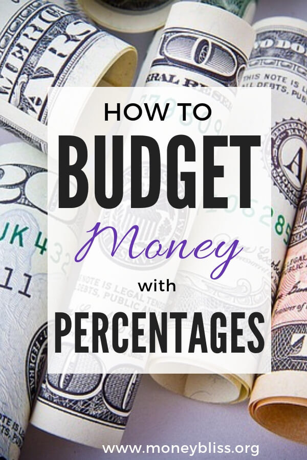 How to budget your money percentages. The Cents Plan Formula works better than 50/20/30 budget or 30-30-30-10 budget or Dave Ramsey recommended percentages. Use this as a budget guide for your personal budget breakdown. Perfect for monthly budget. Get our free budget printable. #budget #printable #moneybliss