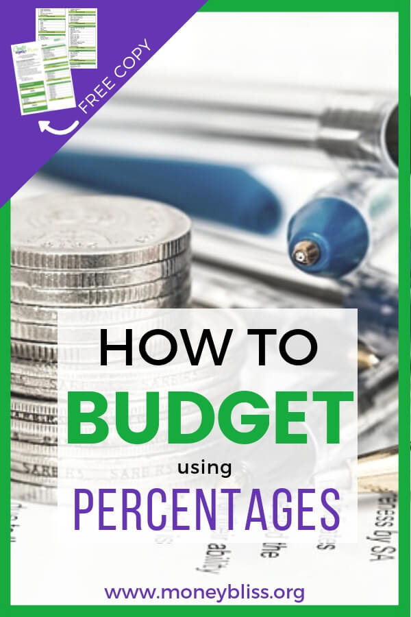 How does budget categories work with percentages? The Cents Plan Formula is a better budget formula than the 50/20/30 budget or Dave Ramsey recommended percentages. Find signs if your household budget is on track. #budget #personalfinance #moneybliss