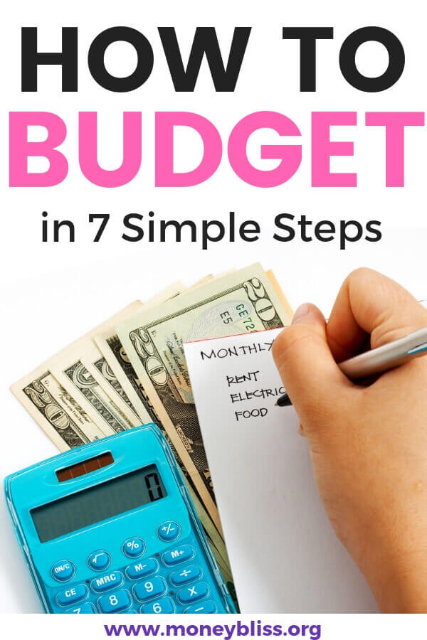 Learn how to budget for beginners. Find tips to help you succeed to save money and pay off debt. Monthly, biweekly or living paycheck to paycheck. Use our free printables for budgeting. #budget #moneybliss