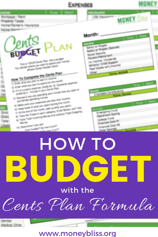 Learn how to budget money using percentages and the Cents Plan Formula. Get your free budget printable to start your personal budget breakdown. Better option than the 50/30/20 budget or the 30-30-30-10 budget.