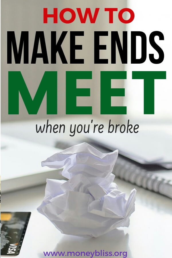 How to make ends meet when you are broke. Find 15 tips to among money in real life. Use these ideas to get ahead with your personal finances. Get out of debt and start saving money. #money #life #moneybliss