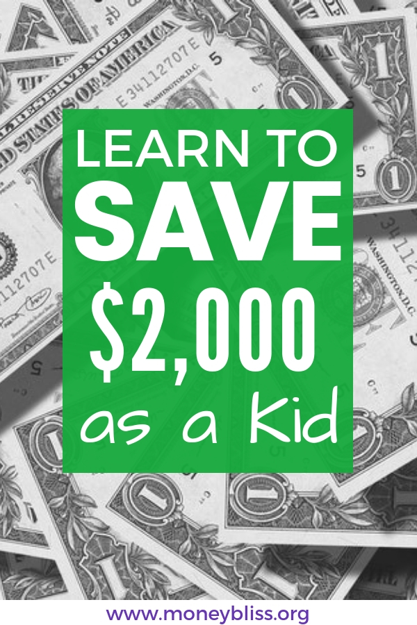 Seriously? Learn to save $2,000 as a kid. Join the Kids Save Age Challenge! Simple ways to teach children how to save. Teach kids to save money. What are ways to save money. Importance of saving money for kids. Save money challenge kids.