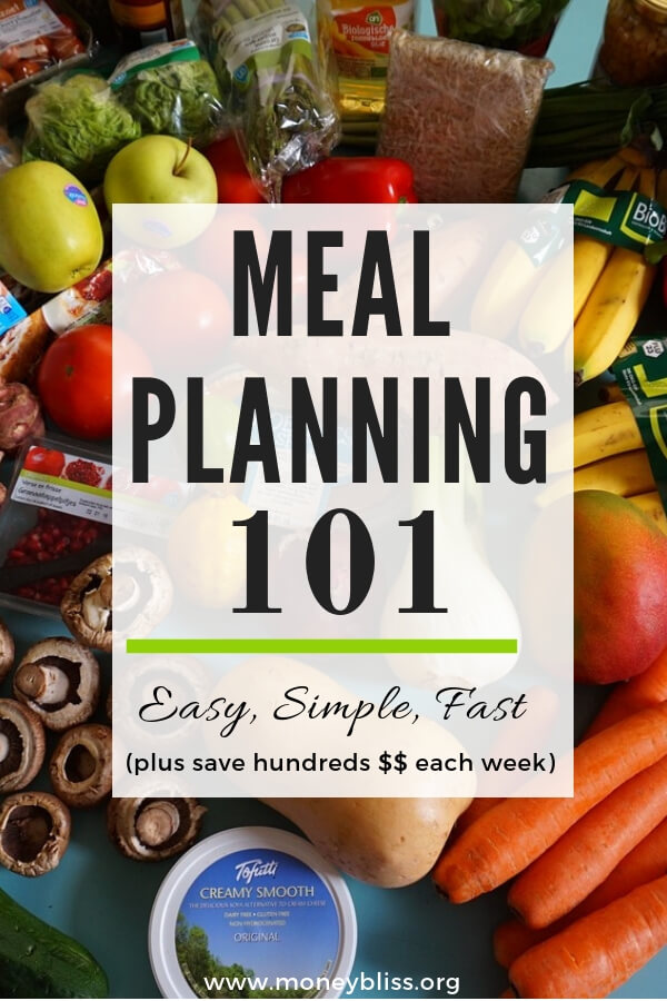 Meal Planning 101. How to Meal Plan in a week. Save Money. Meal Plan on a Budget. Find easy and simple tips! #mealplan #groceries #moneybliss