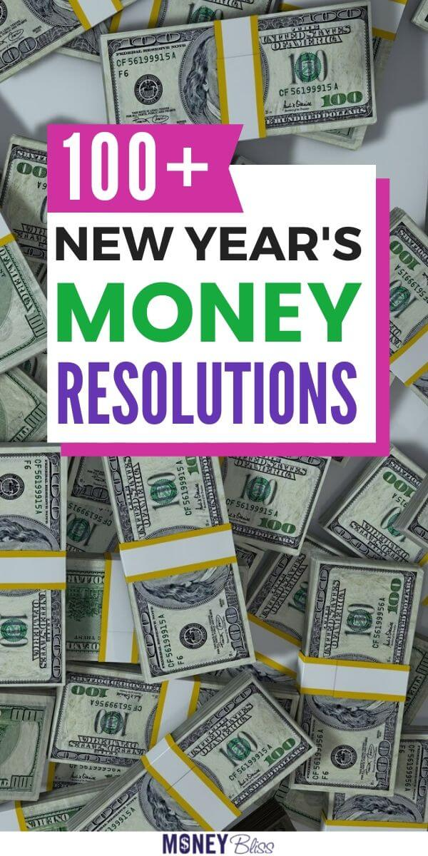 Find New Year's Resolutions about money. Huge list of New Year's Money Resolutions to start your journey to financial freedom. Money. Get out of debt. Save money. Budget. Improve your money management. Make money. Earn passive income. New Year's Resolutions list. printable. Goal setting. Find motivation. Inspiration. Ultimate list of New Year's Resolutions.