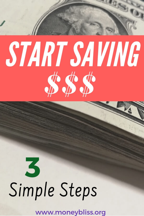 Start saving money today with these simple steps. Use a budget to pay yourself first and start your journey to financial independence. #savingmoney #moneybliss