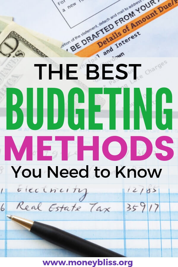Track your personal finances with one of these budgeting methods. Find a budget system to work for you. Start saving money and pay off debt. Zero based budgeting. Backwards budgeting. Percentage budgeting. #budget #personalfinance #moneybliss