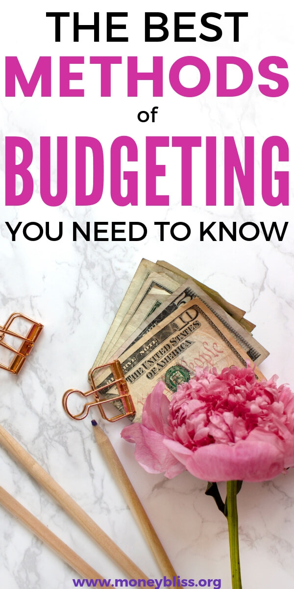 All of the best budgeting methods you need to know. This is perfect for budgeting for beginners. Get tips to improve your finances. Plus free worksheets. Find a method of budgeting to work for couples, family, or singles. #budget #money #moneybliss
