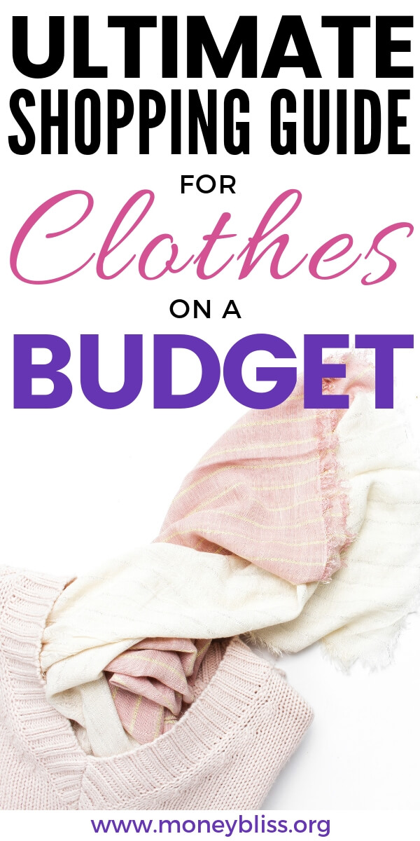 How to shop for clothes on a budget. Get ideas to still fit your style using online shopping and thrift stores. Find the perfect outfit while saving money. #clothes #moneysavingtip #moneybliss