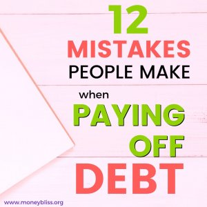 Paying off debt may sound simple enough. But, don't fall victim to one of these common debt payoff mistakes. Get printables, worksheets, and motivation tips on how not to pay off debt. #payoffdebt #moneybliss