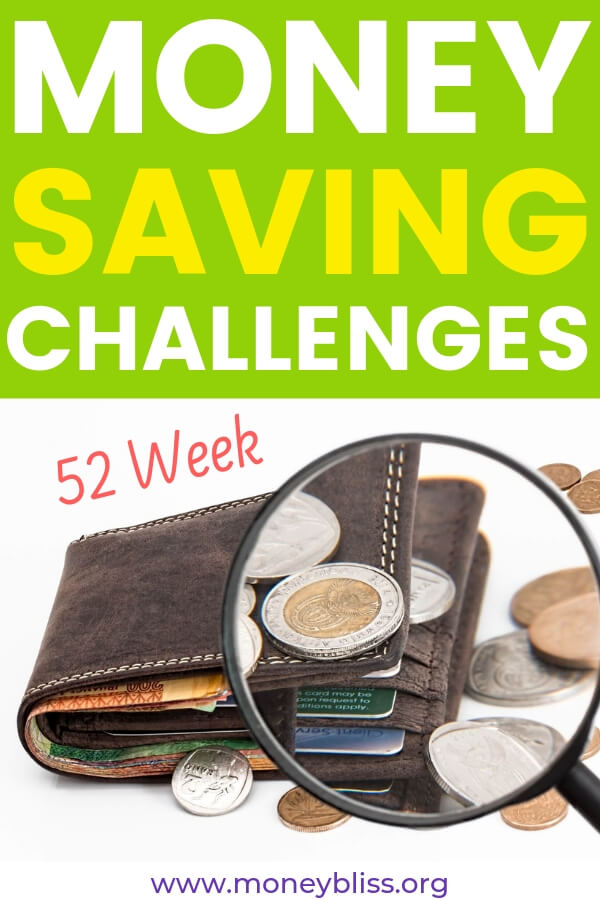 This is your money journey! Pick from the different 52 Week Money Saving Challenge. Then, decide what one fits your personal finance situation the best! Start saving money each week. Track your weekly progress with our free printables. #savemoney #challenges #moneybliss